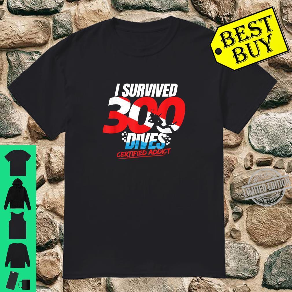 300th Dive Diver Down Flag Scuba Diving Shirt