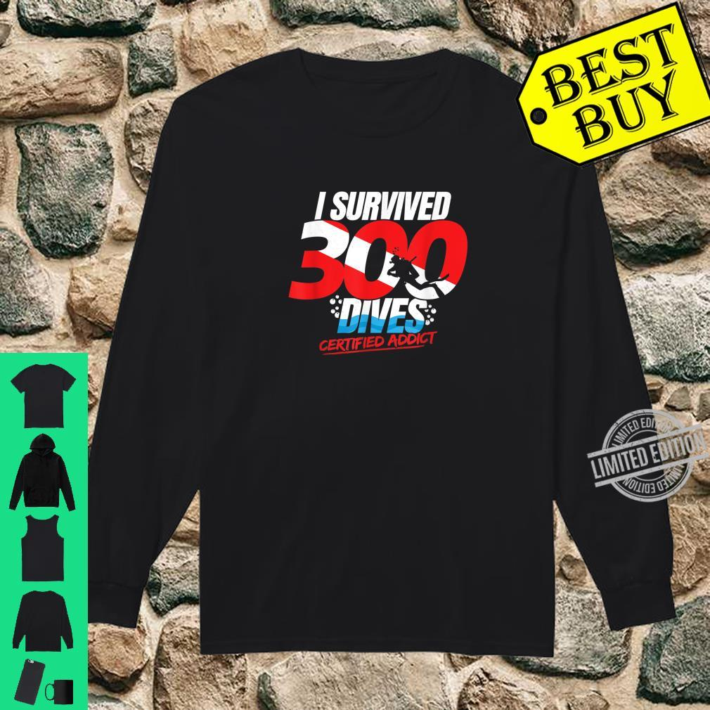 300th Dive Diver Down Flag Scuba Diving Shirt long sleeved