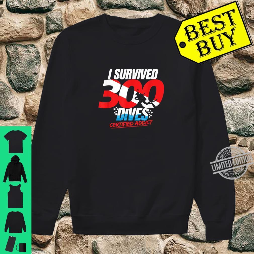 300th Dive Diver Down Flag Scuba Diving Shirt sweater