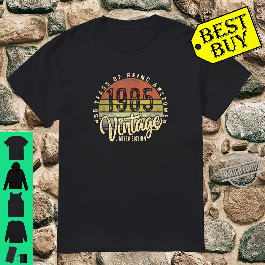 35th Birthday Vintage 1985 Retro Bday 35 Years Old Shirt