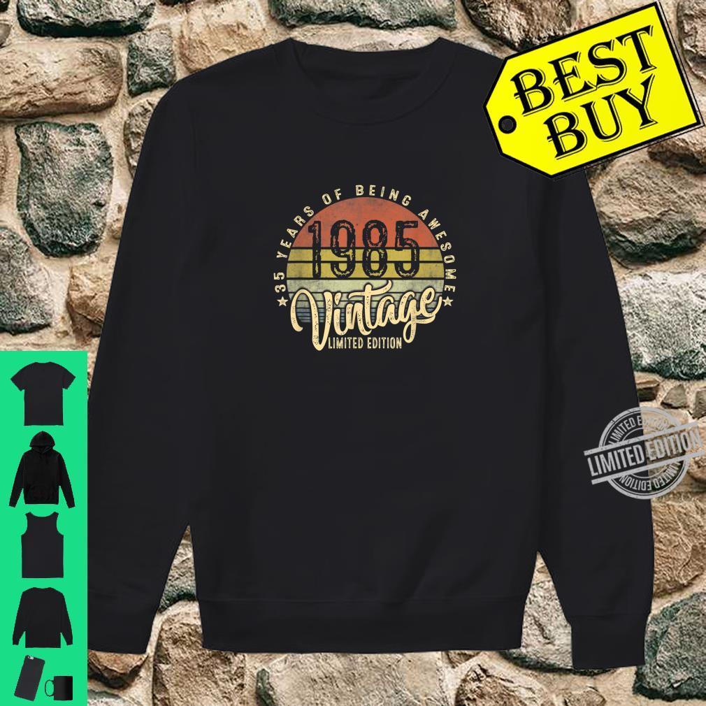 35th Birthday Vintage 1985 Retro Bday 35 Years Old Shirt sweater