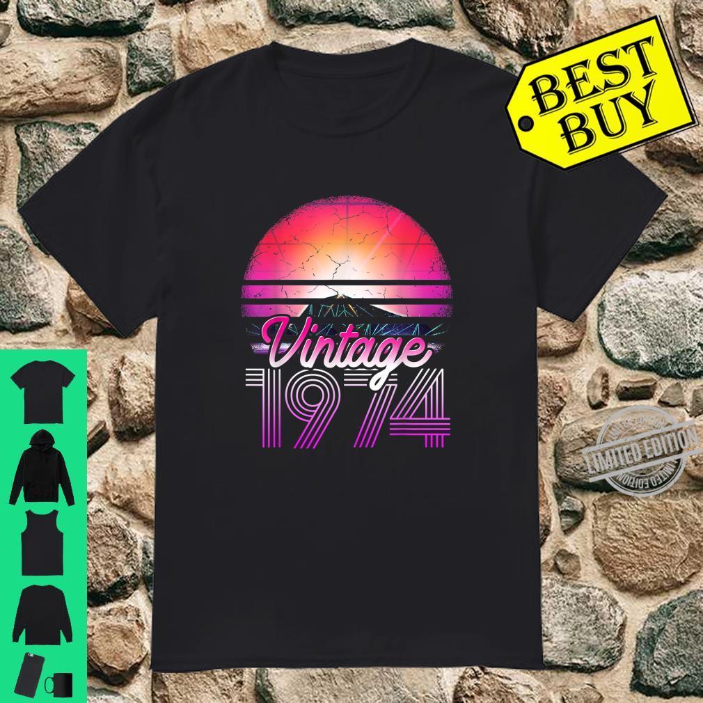 45th Birthday Vintage Since 1974 Shirt