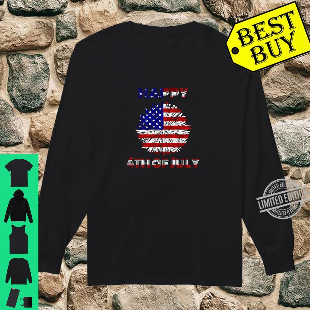 4th Of July USA Patriotic Fireworks Outfit Firecrackers Shirt long sleeved