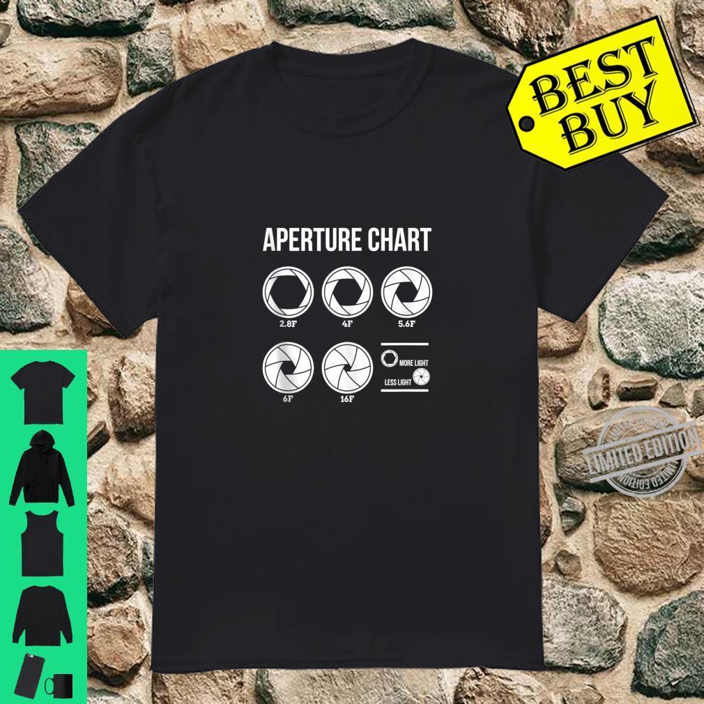 Aperture Chart Printed Photography Photographer Shirt