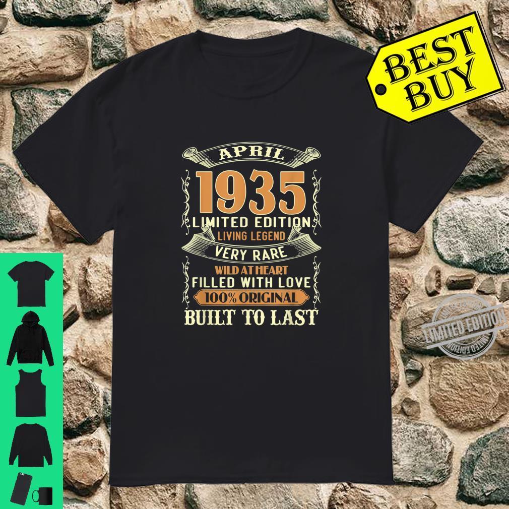 April 1935 Shirt 85 Years Old 85th Birthday Shirt