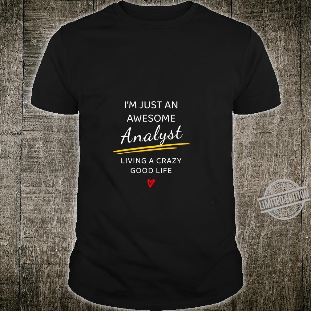 Awesome Analyst for Therapists, Analysts Langarmshirt Shirt