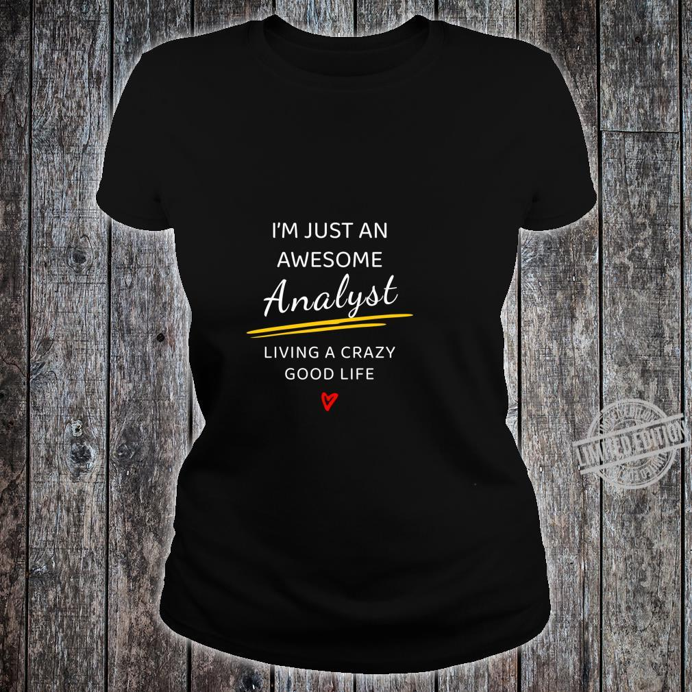 Awesome Analyst for Therapists, Analysts Langarmshirt Shirt ladies tee