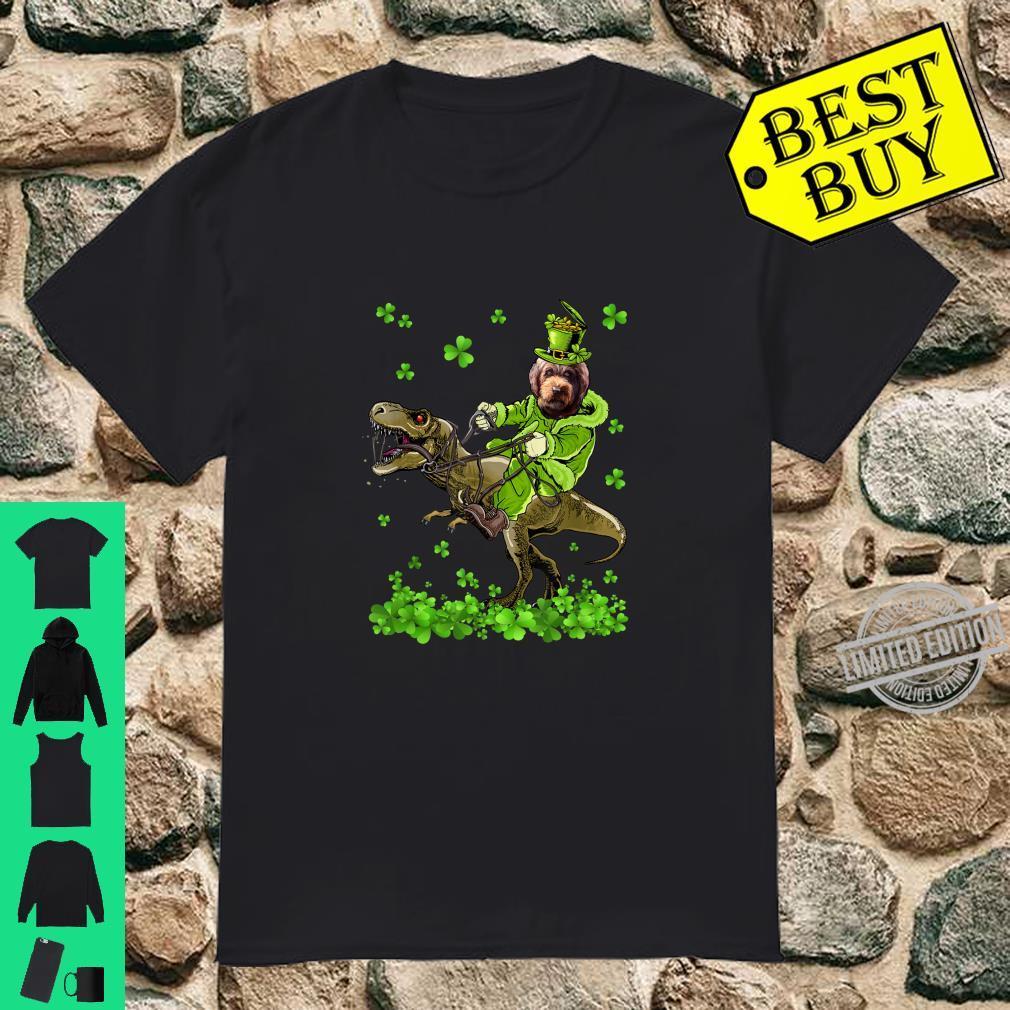 Barbet Riding Dinosaur St Patricks Day Shirt