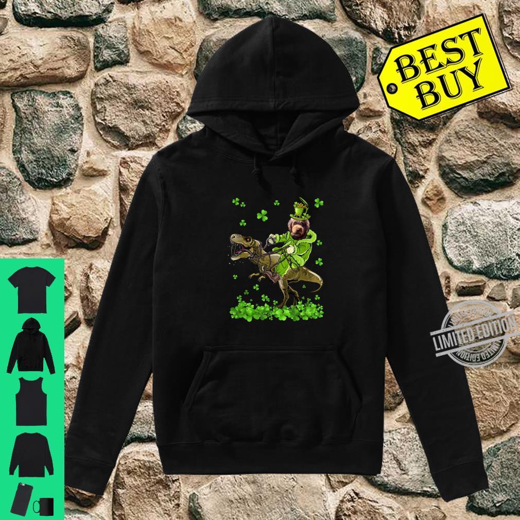 Barbet Riding Dinosaur St Patricks Day Shirt hoodie