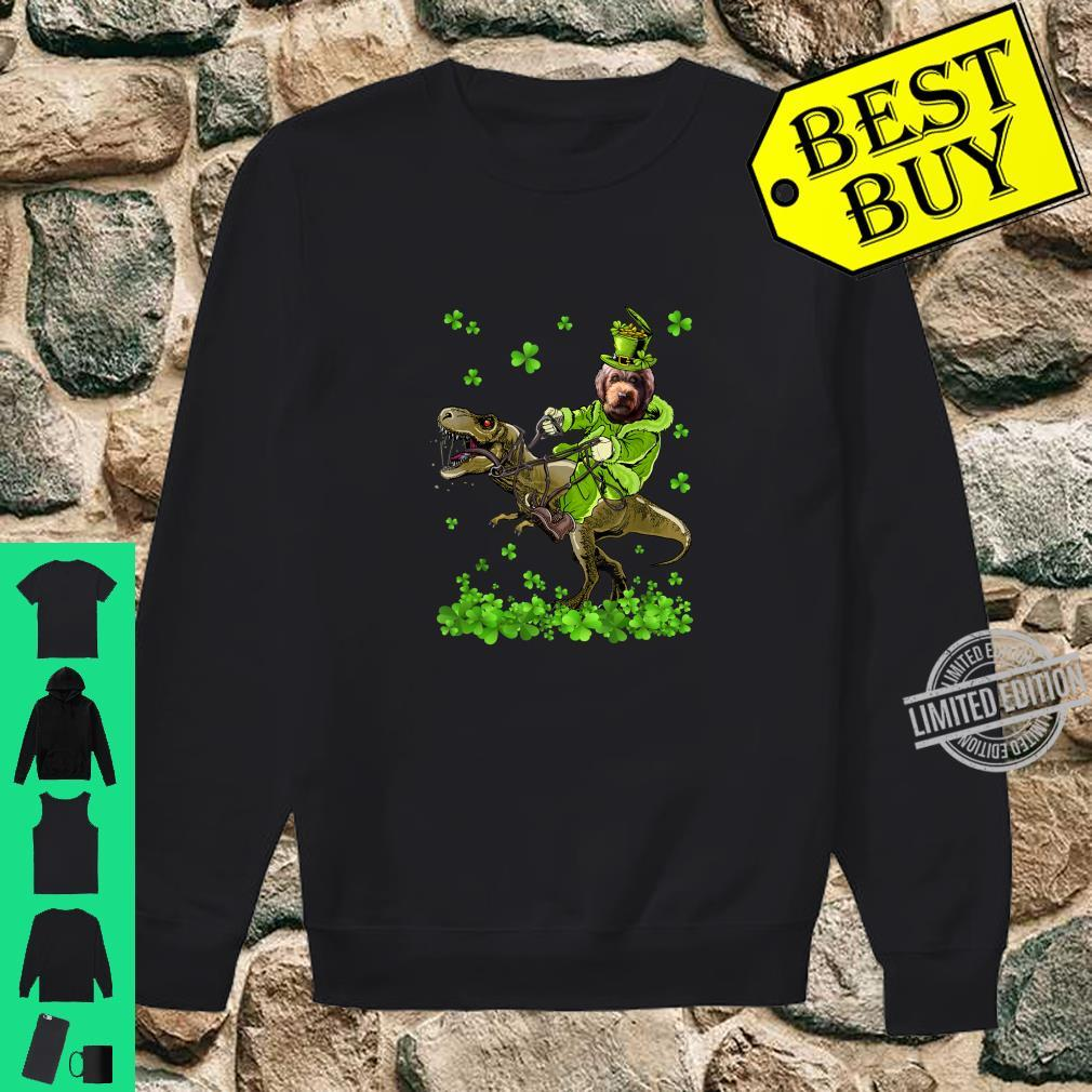 Barbet Riding Dinosaur St Patricks Day Shirt sweater