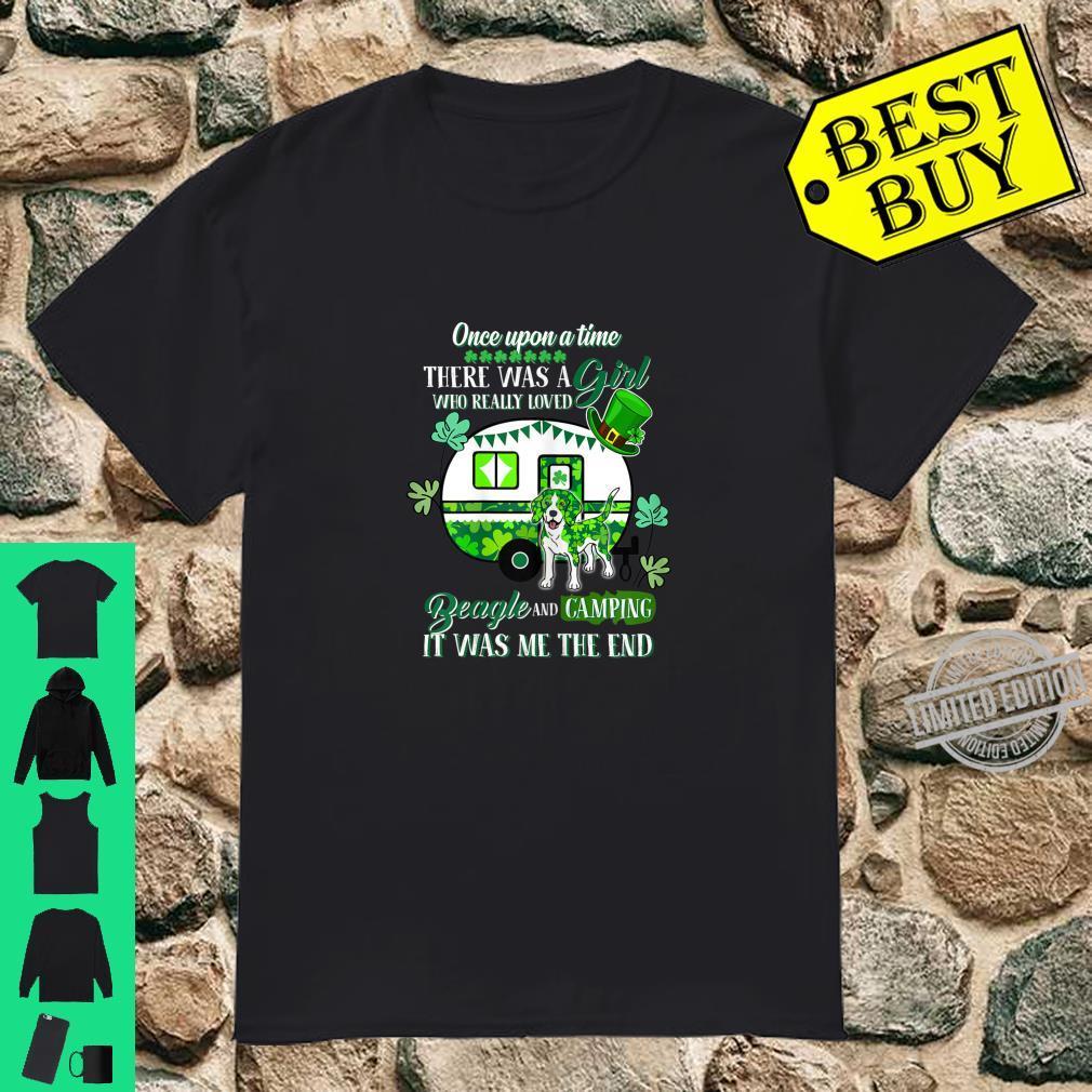 Beagle Dog And Camping St Patrick's Day Shirt