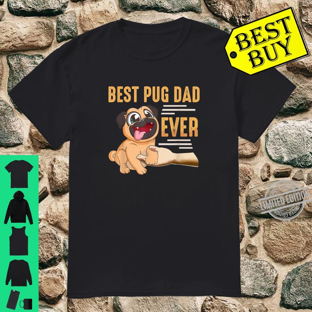Best Pug Dad Ever Retro Vintage Retro Dogs Animal Pet Shirt
