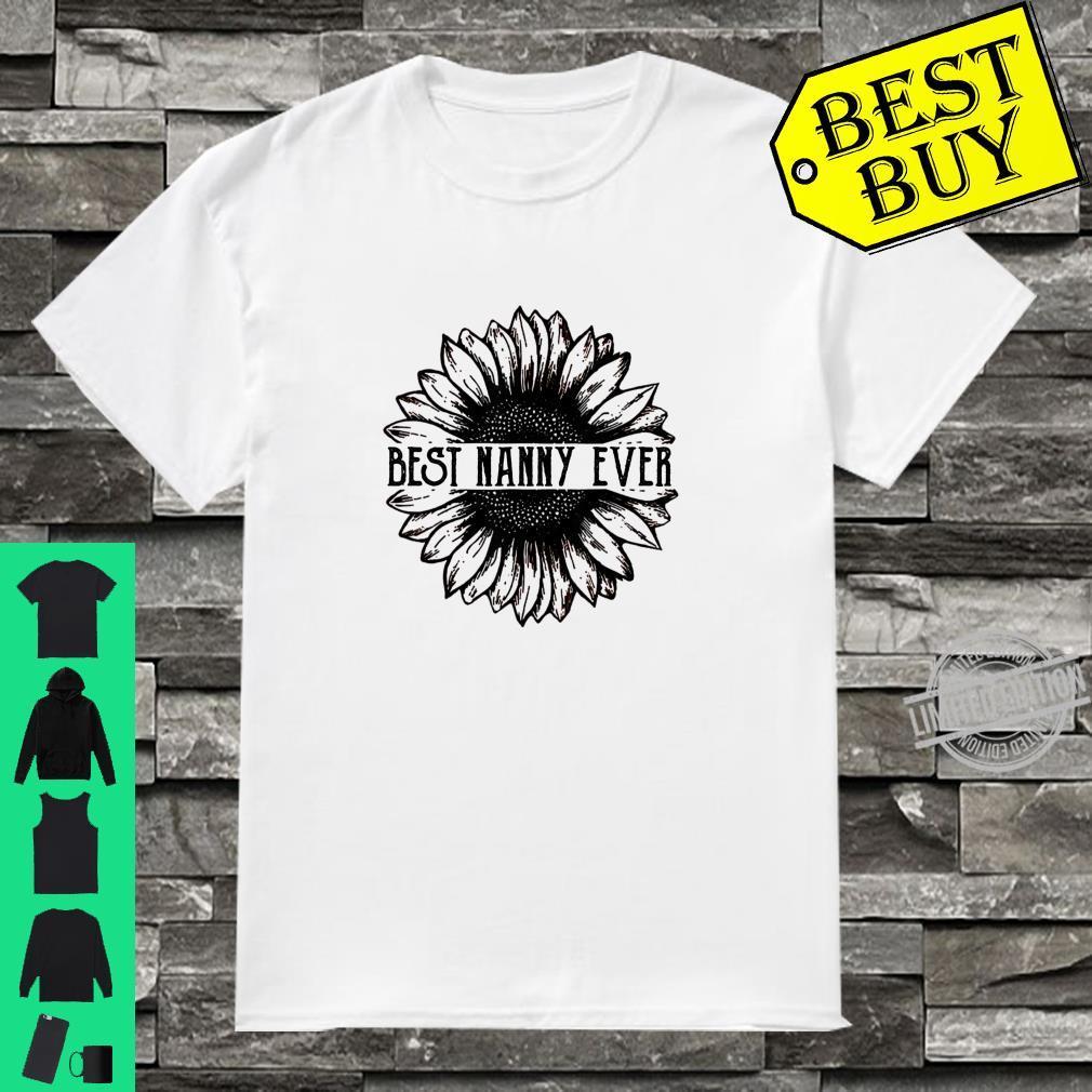 Best nanny Ever Sunflower Shirt