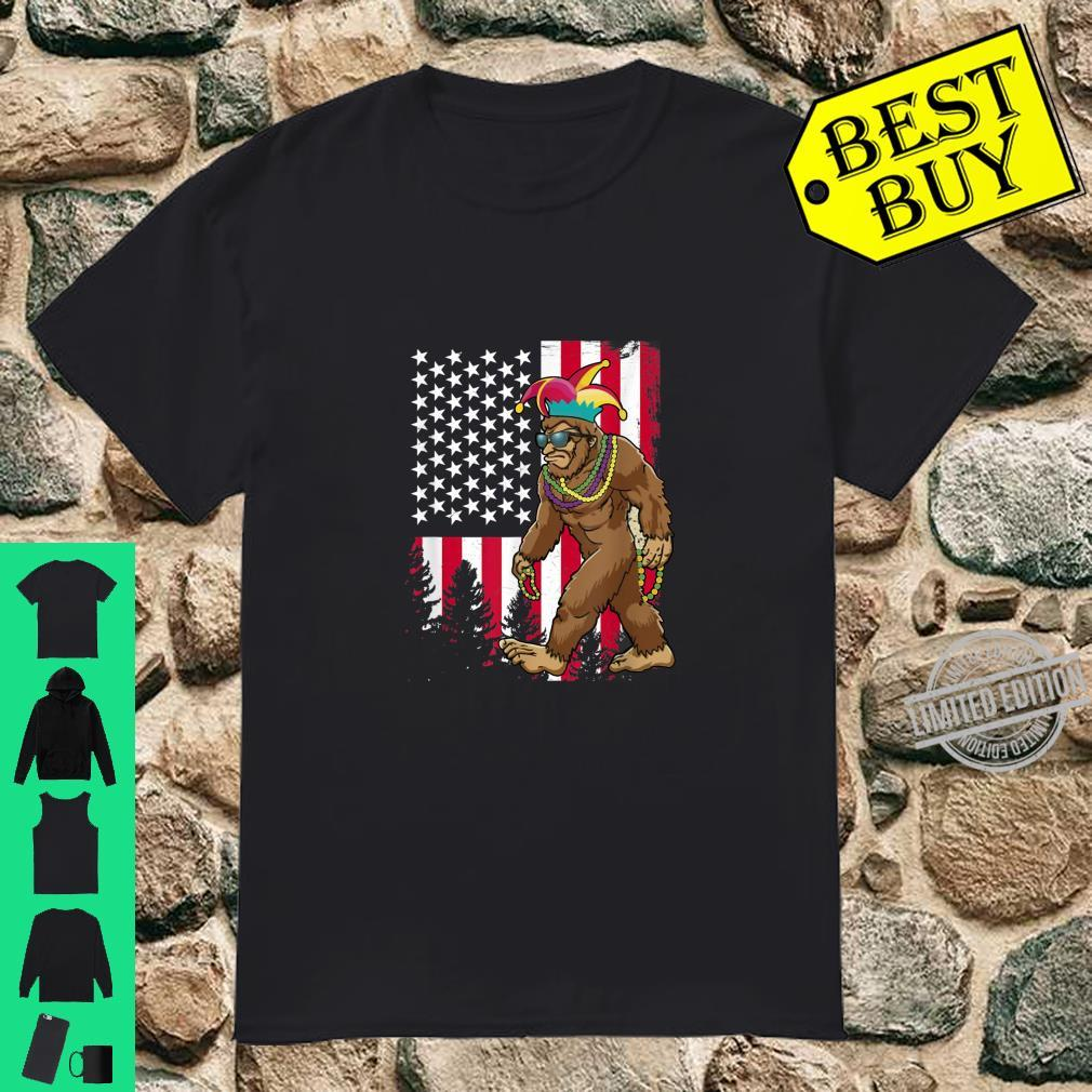 Bigfoot Mardi Gras Sasquatch Shirt