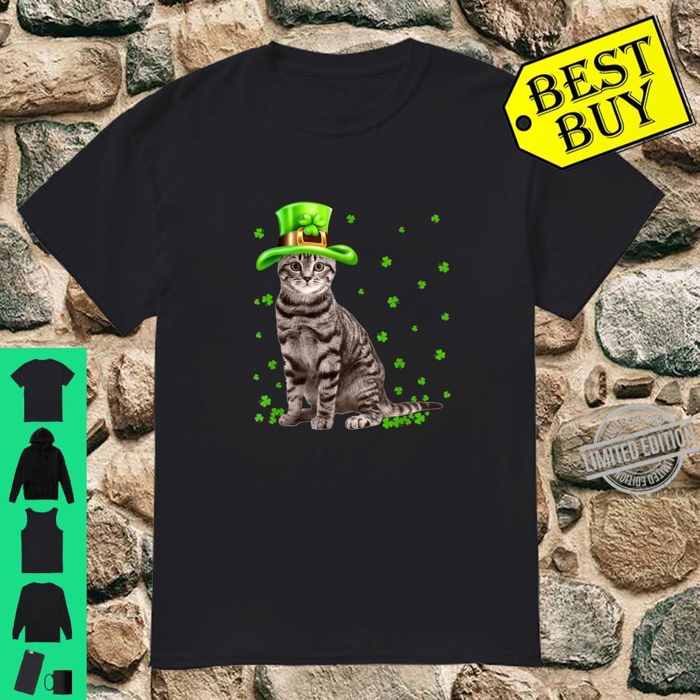 Cat Irish Shamrock St Patrick's Day Cat Owner Shirt