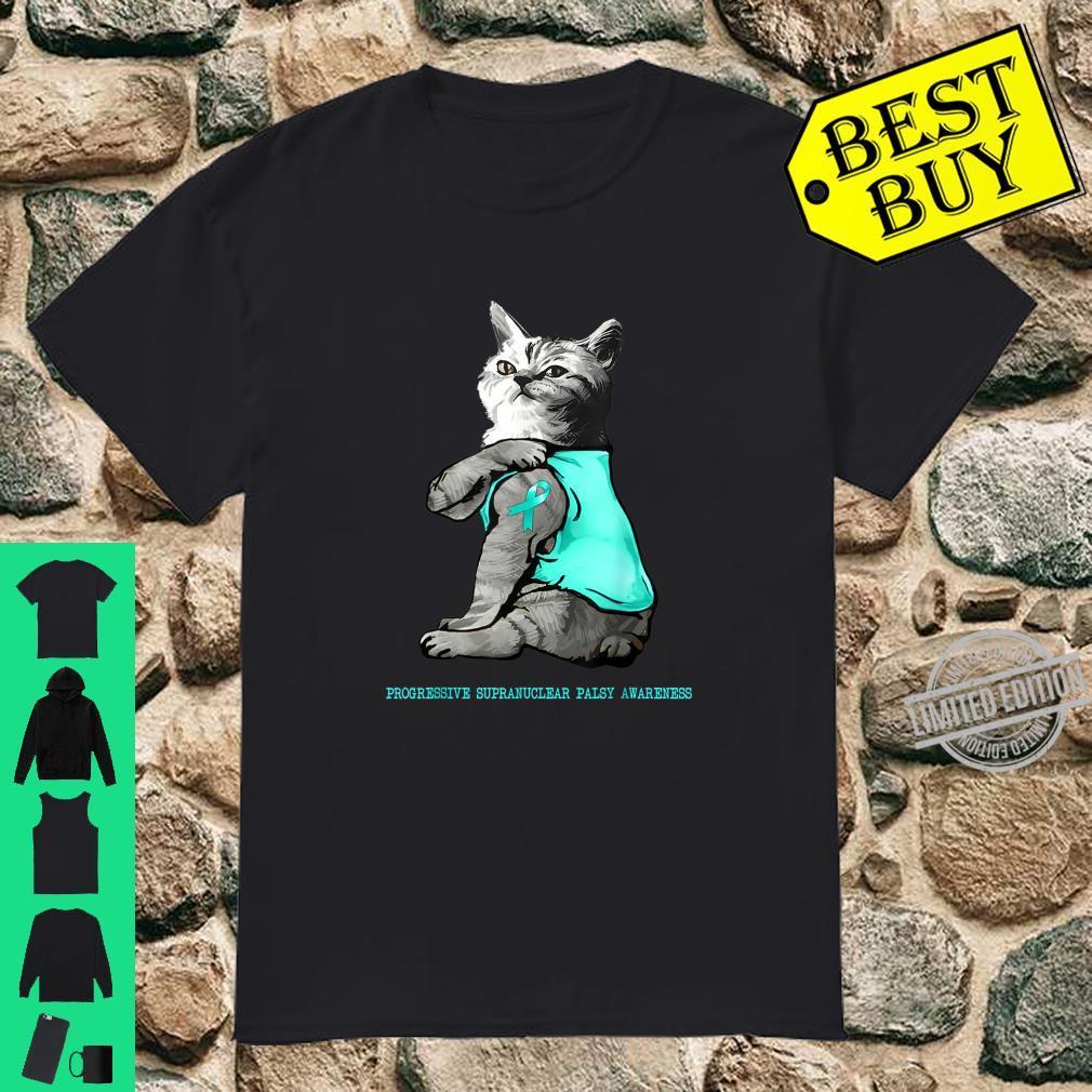 Cat Tattoo Progressive Supranuclear Palsy Awareness Shirt