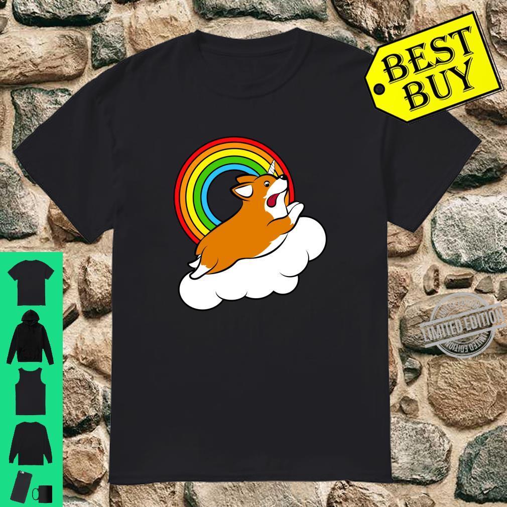 Corgi Rainbow Unicorn Shirt