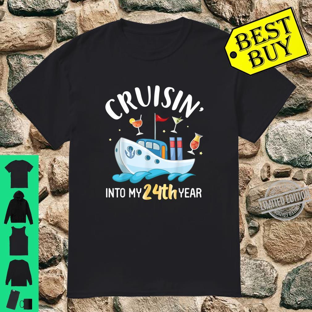 Cruisin' Into My 24th Year Born In 1996 Happy Birthday To Me Shirt