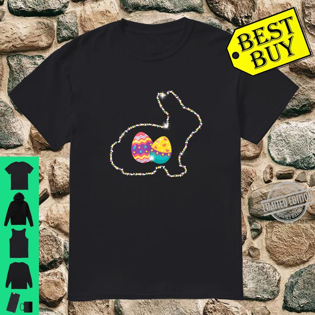 Cute Bunny With Easter Eggs Easter Day Shirt