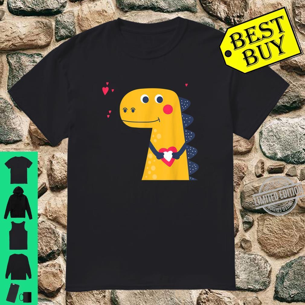 Cute Dinosaur Love Valentines Shirt