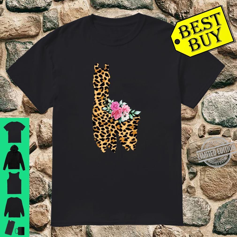 Cute Llama Leopard Print for Her Momn Girls Wife Shirt