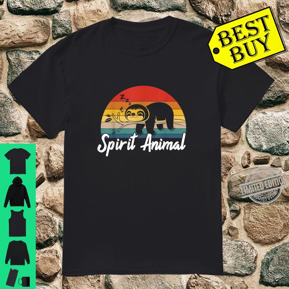 Cute Sloth Is My Spirit Animal Vintage Lazy People Nap Sleep Shirt