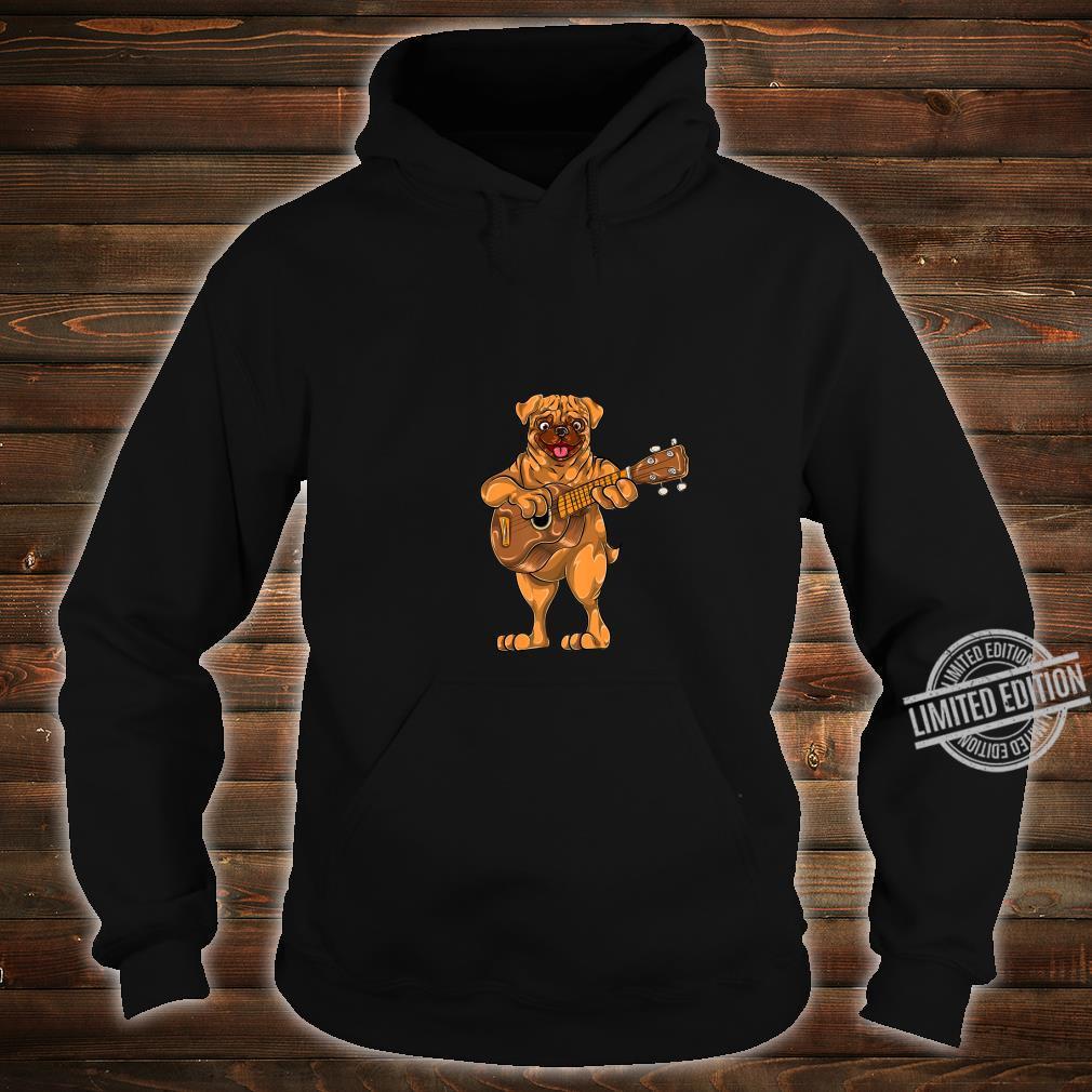 Dog Animal Cartoon Bass Guitar Musician Boys Pug Shirt hoodie