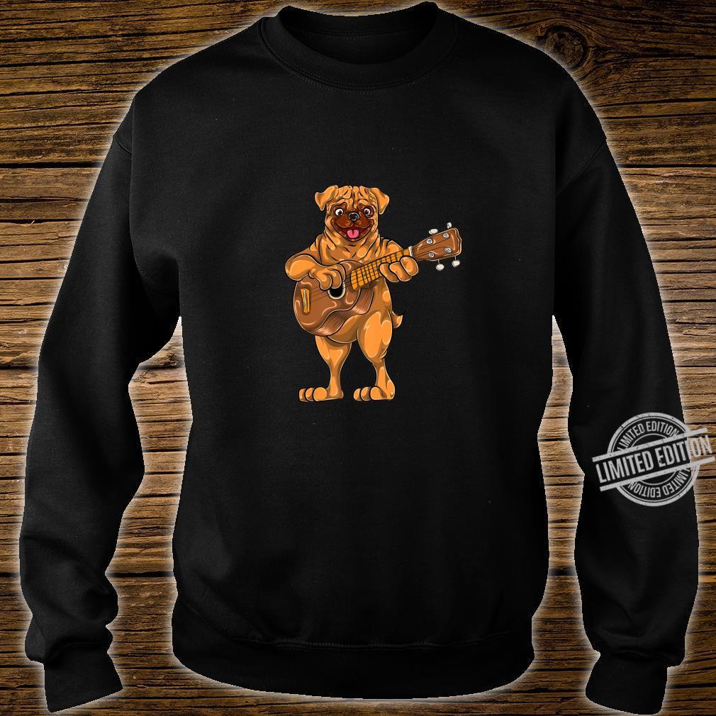 Dog Animal Cartoon Bass Guitar Musician Boys Pug Shirt sweater