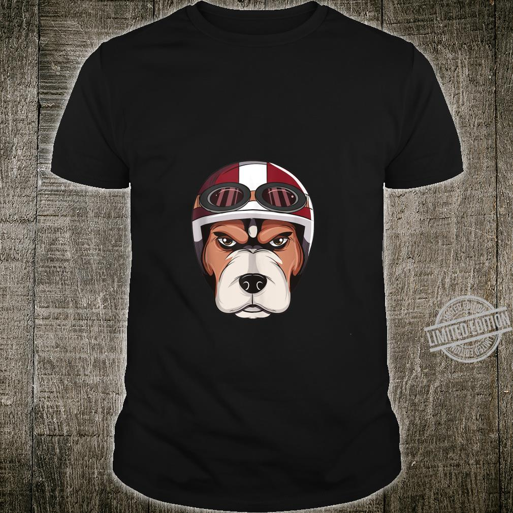 Dog with Vintage Motorcycle Helmet and Goggles Shirt Shirt