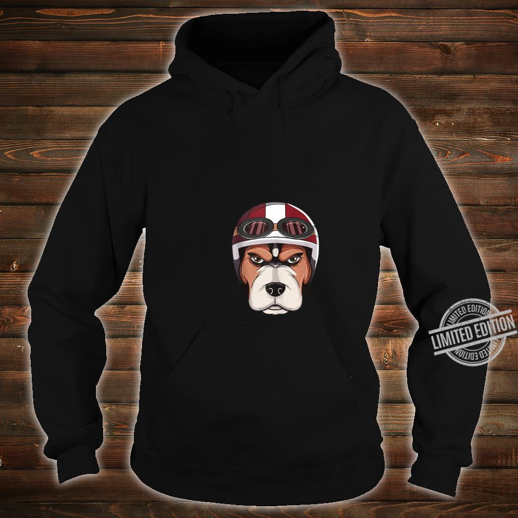 Dog with Vintage Motorcycle Helmet and Goggles Shirt Shirt hoodie