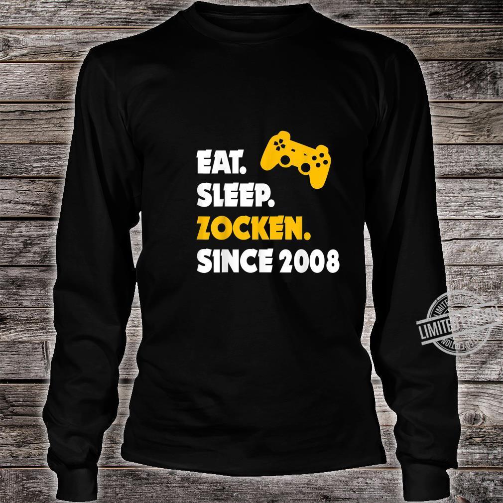 Eat Sleep Zocken Since 2008 12. Geburtstag 12 Jahre Geschenk Shirt long sleeved
