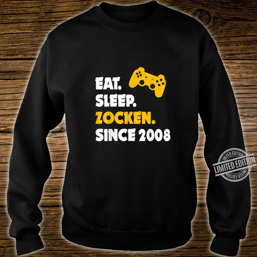 Eat Sleep Zocken Since 2008 12. Geburtstag 12 Jahre Geschenk Shirt sweater