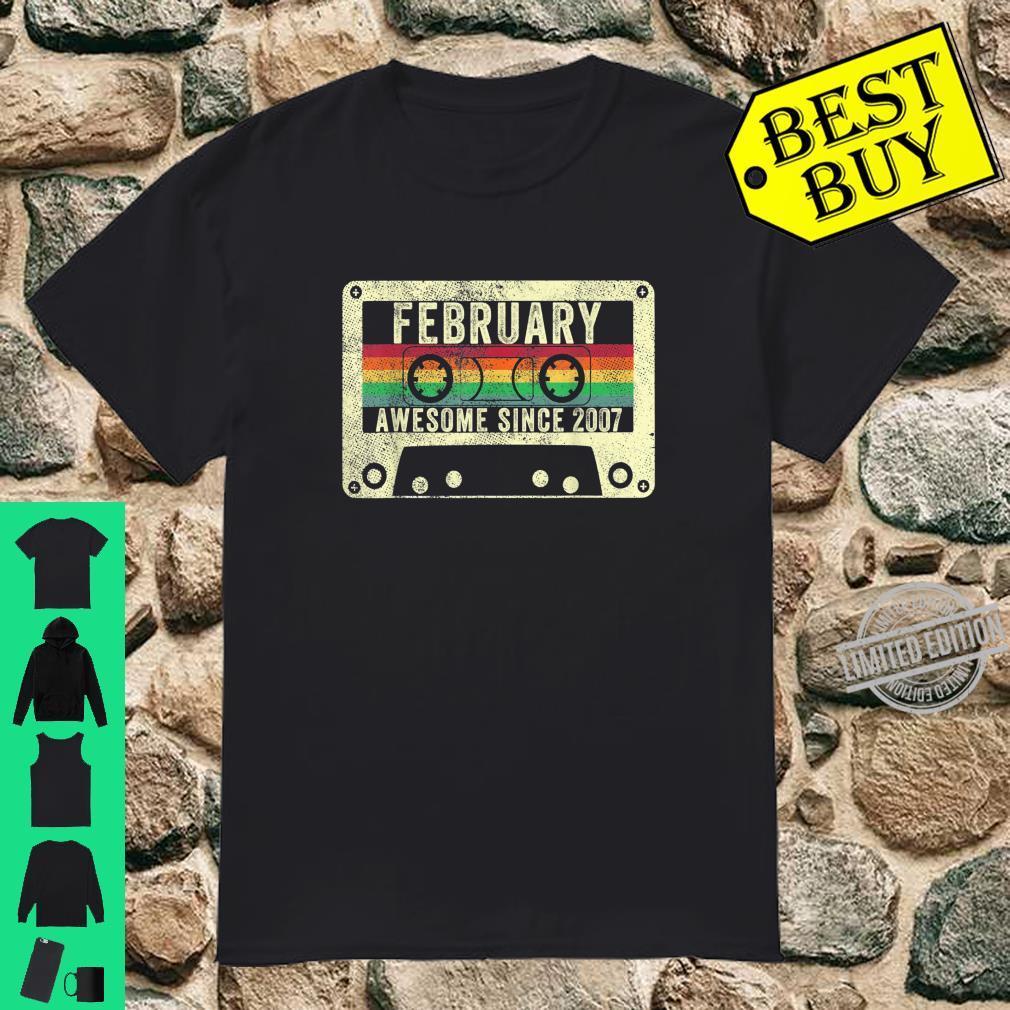 February 2007 13th Birthday Vintage Retro Legend Born Shirt