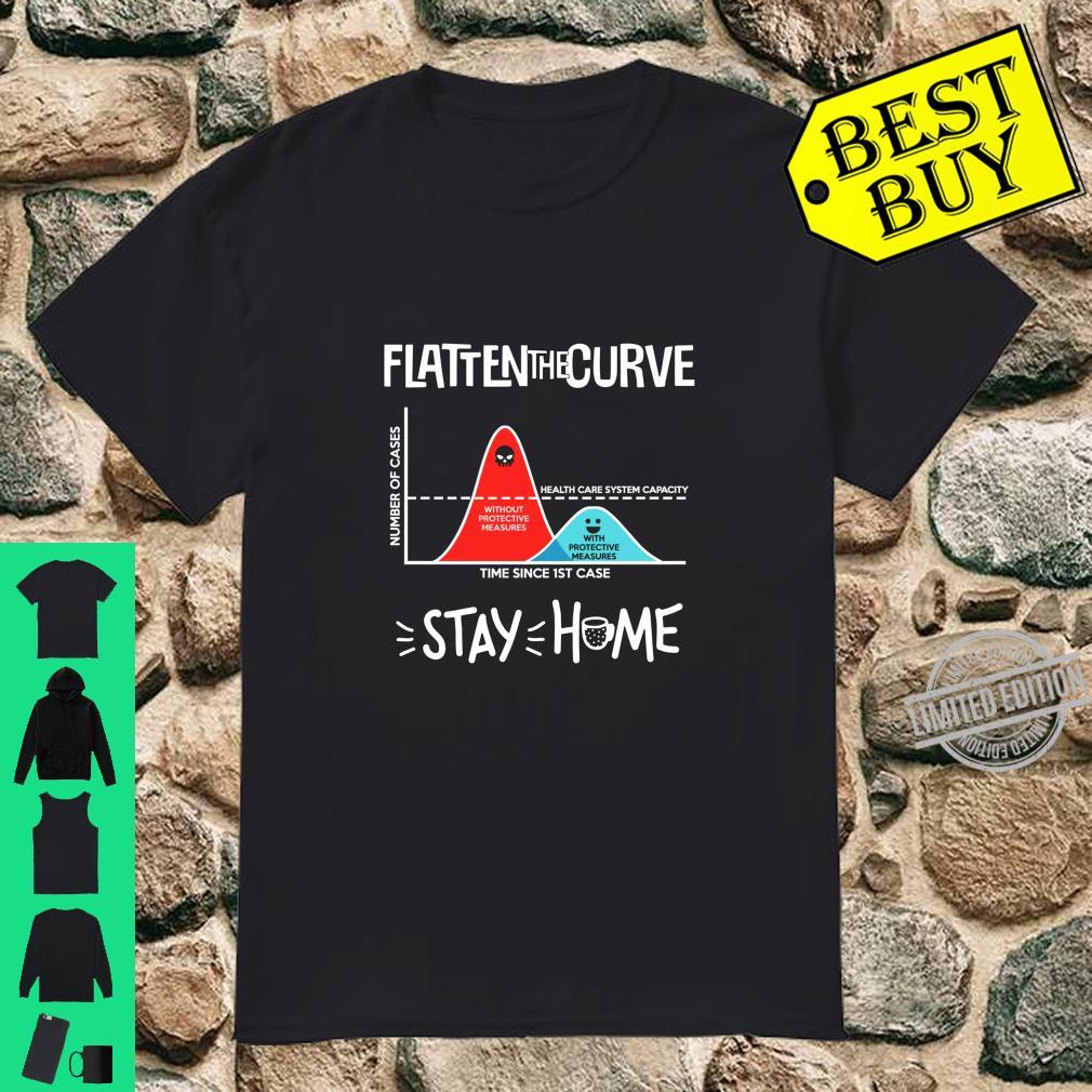 Flatten The Curve Stay Home Awareness Shirt