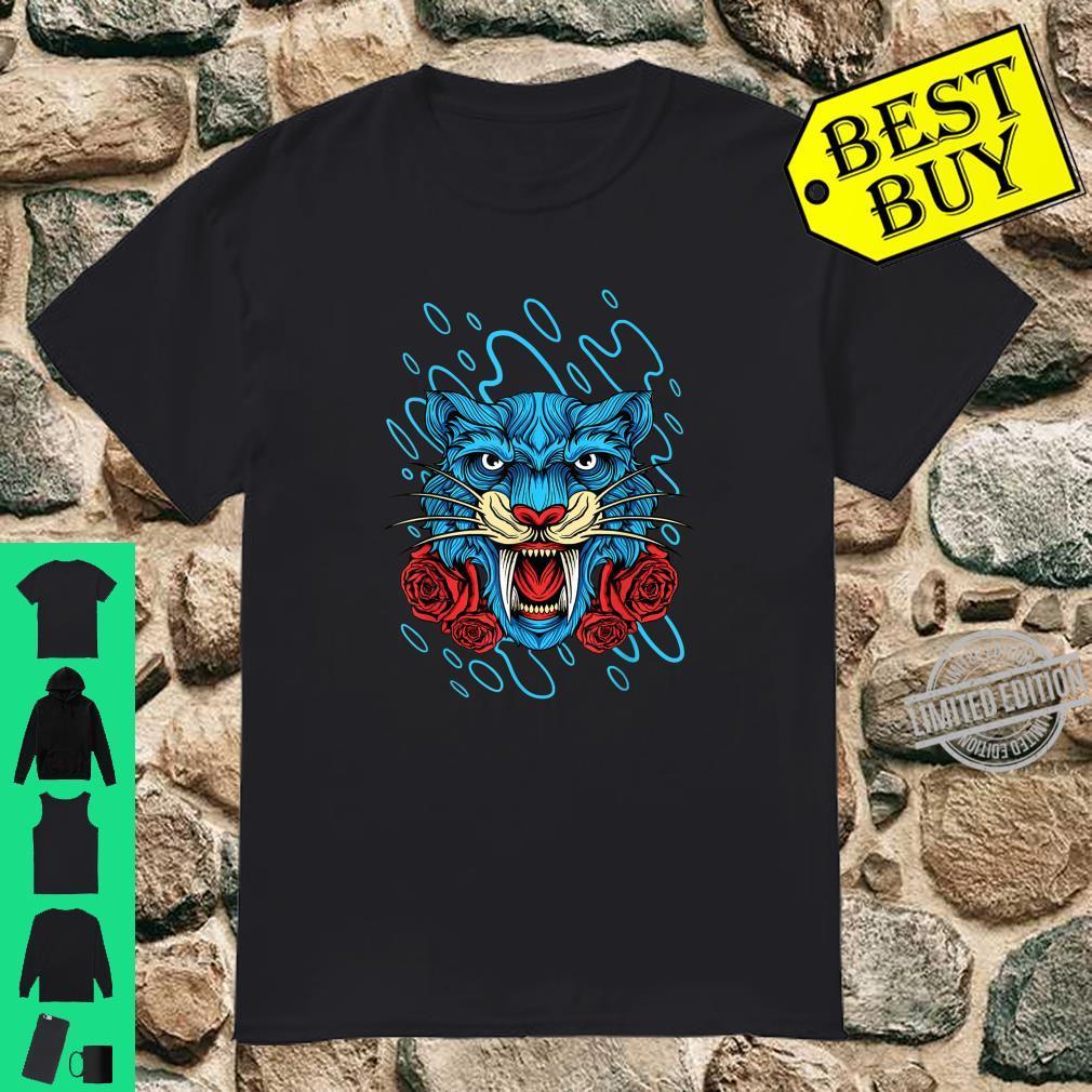 Floral Wild Tiger, Fearless Tiger Design Shirt