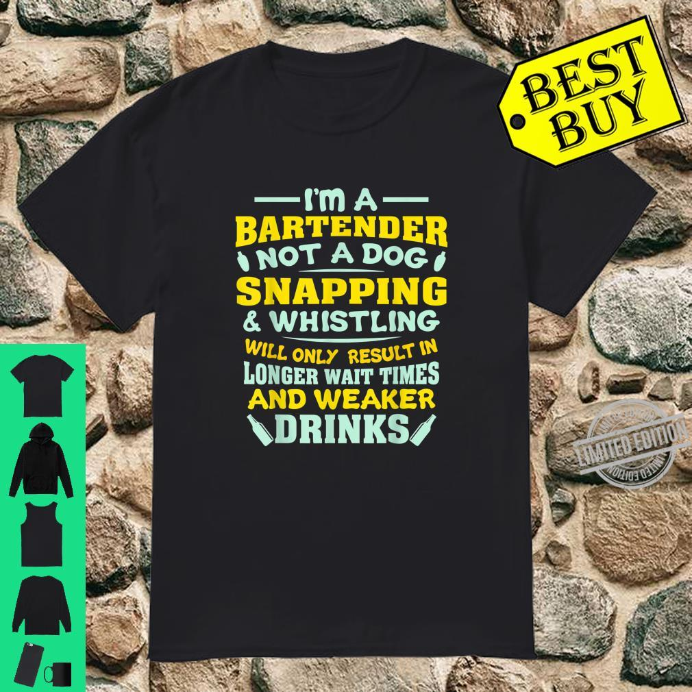 Funny Bartender Be Nice to Bartenders Shirt