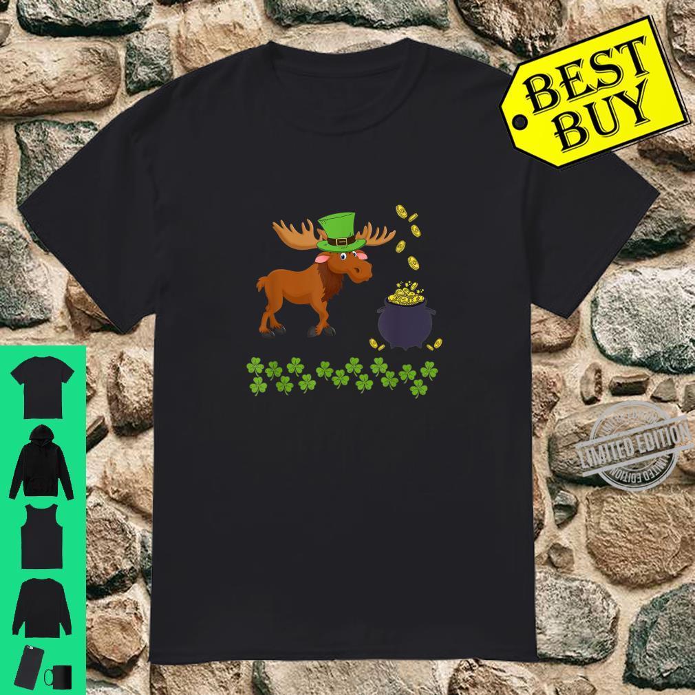 Funny Moose St Patricks Day Animal Shamrock Shirt