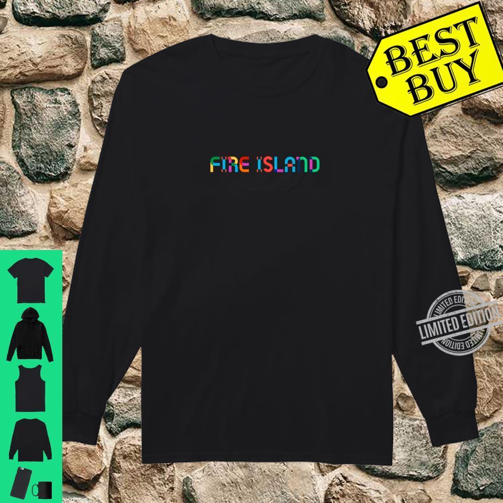 GayBorhood Pride Fire Island Shirt long sleeved