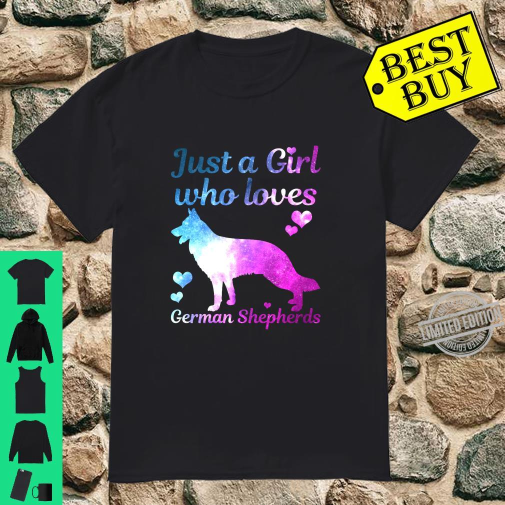 German Shepherd Dog Just A Girl Who Loves Dogs Shirt
