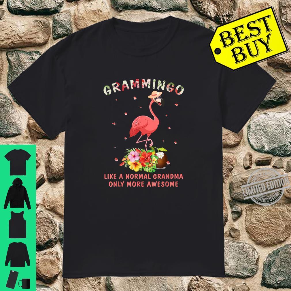 Grammingo Like An Grandma Only Awesome Floral Flamingo Shirt