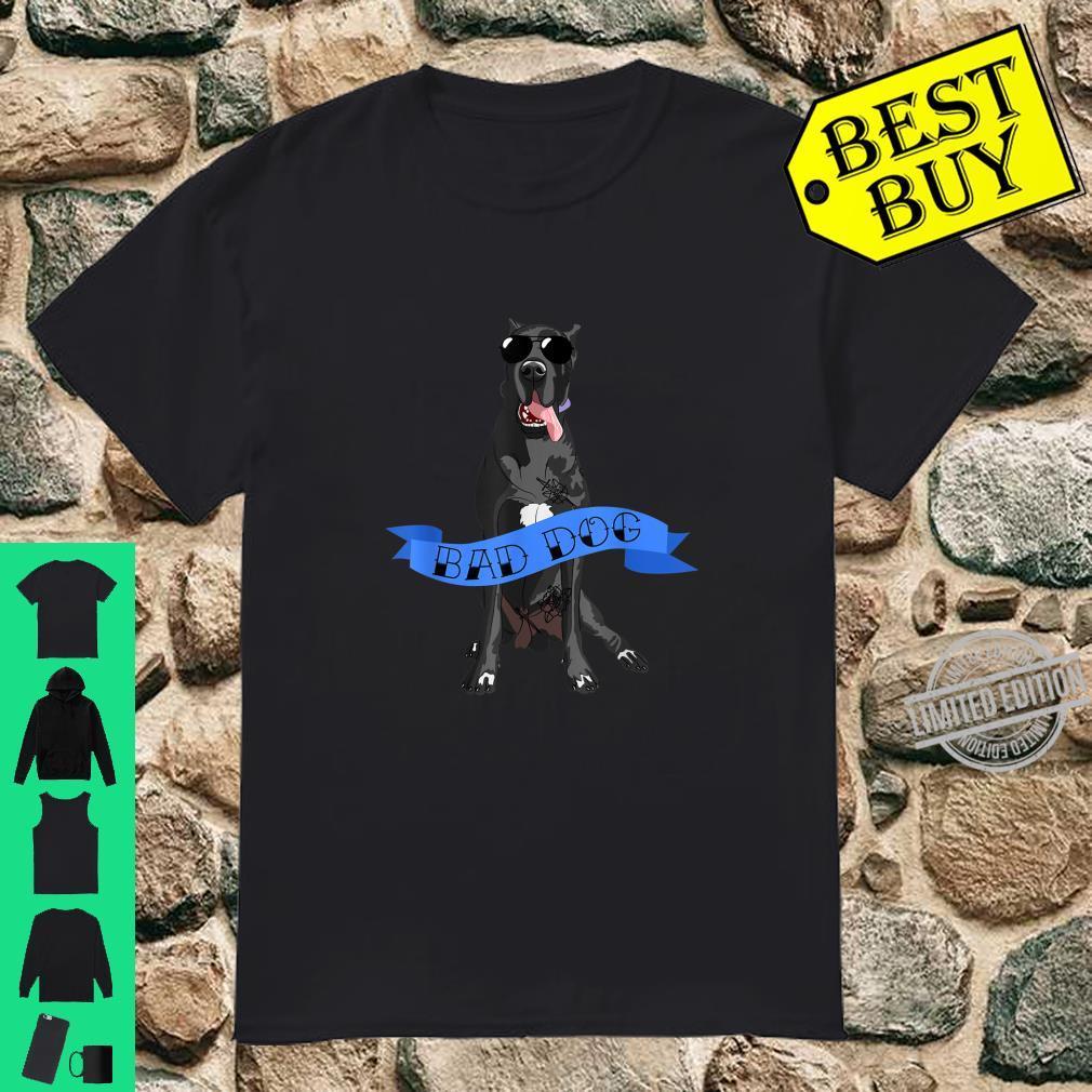 Great Dane Bad Dog Father's Day Dog Shirt