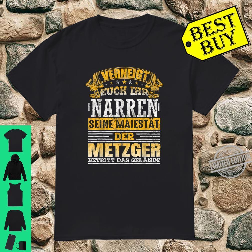 Grillmeister Koch Schlachter Geselle Metzger Geschenk Shirt