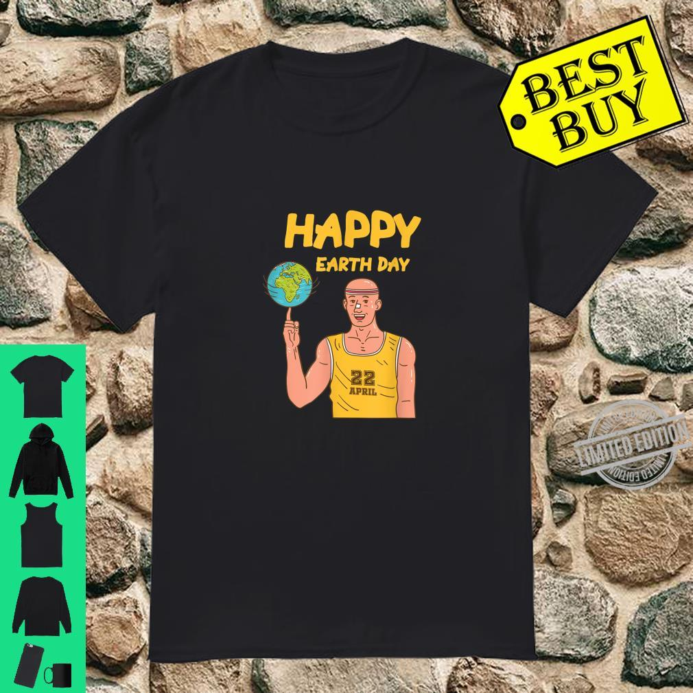Happy Earth Day Basketball Player Design Eco Sports Shirt