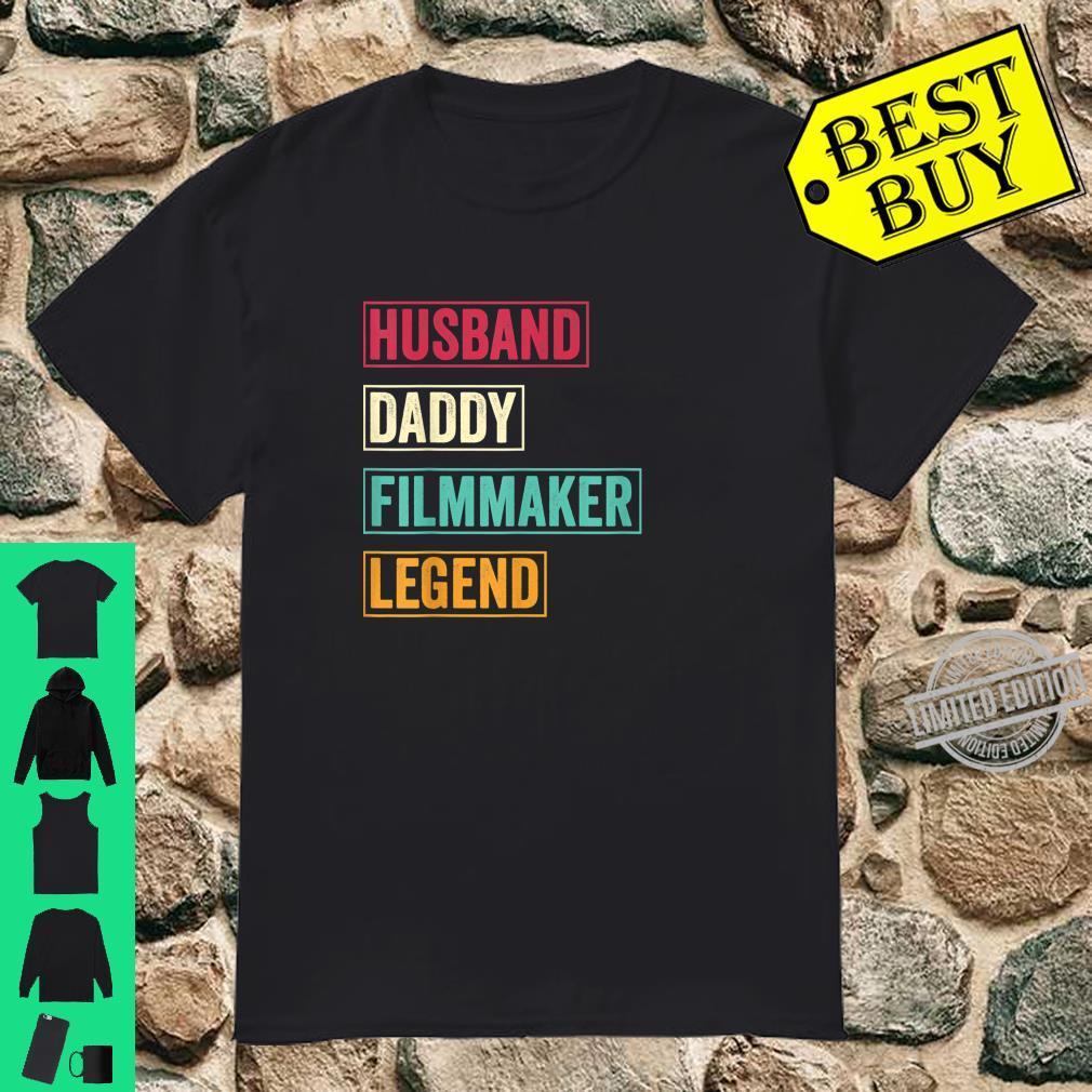 Herren Husband Daddy Filmmaker Legend Fathers Day Shirt