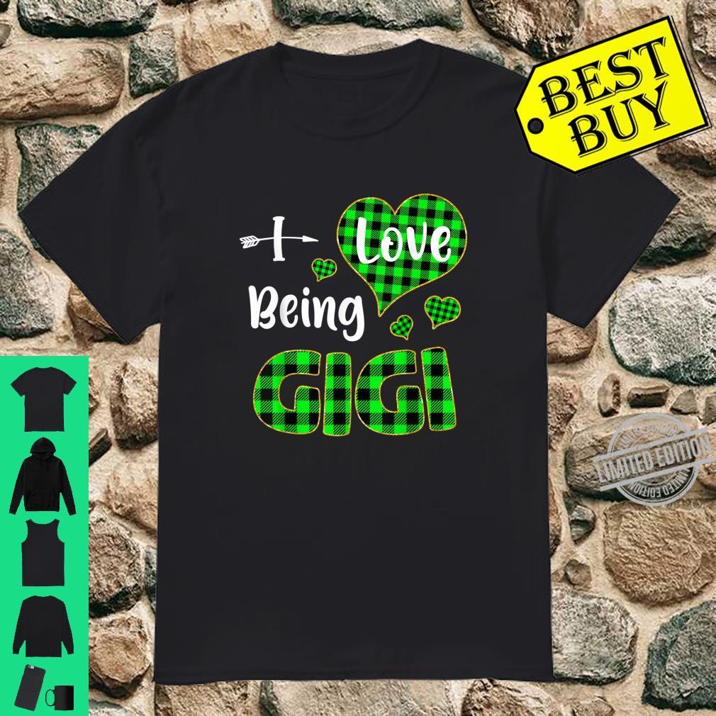 I Love Being Gigi Green Plaid Ideas Shirt