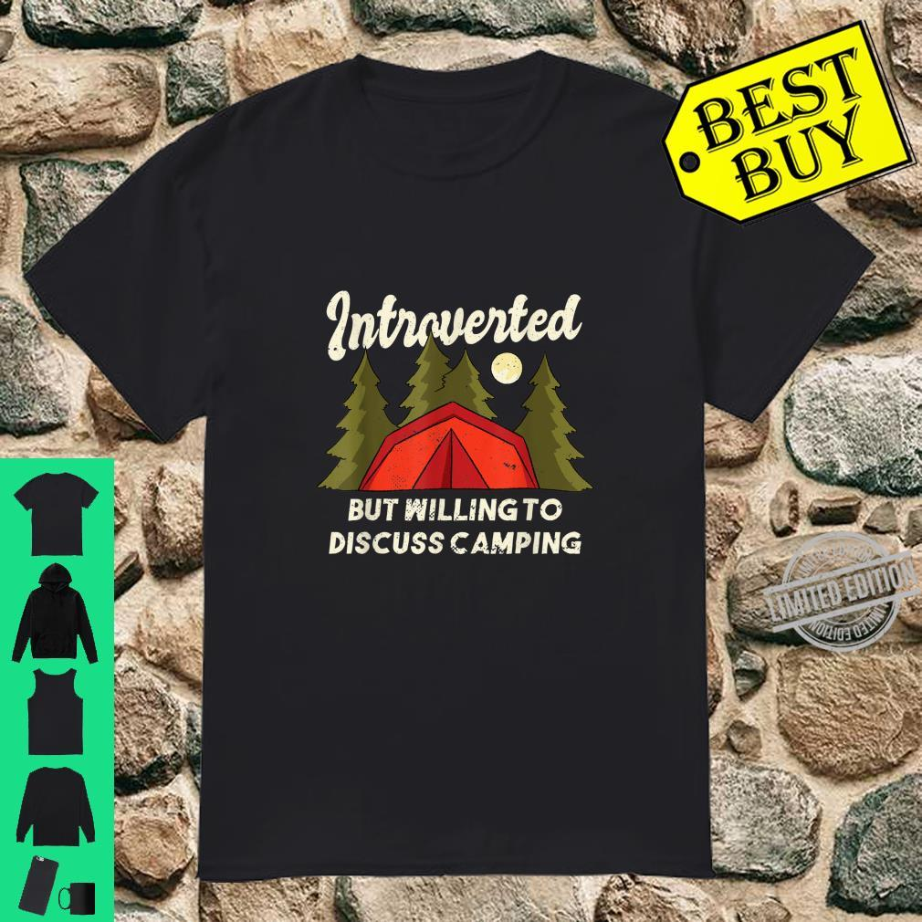 Introverted Camping Quote Introvert Shirt