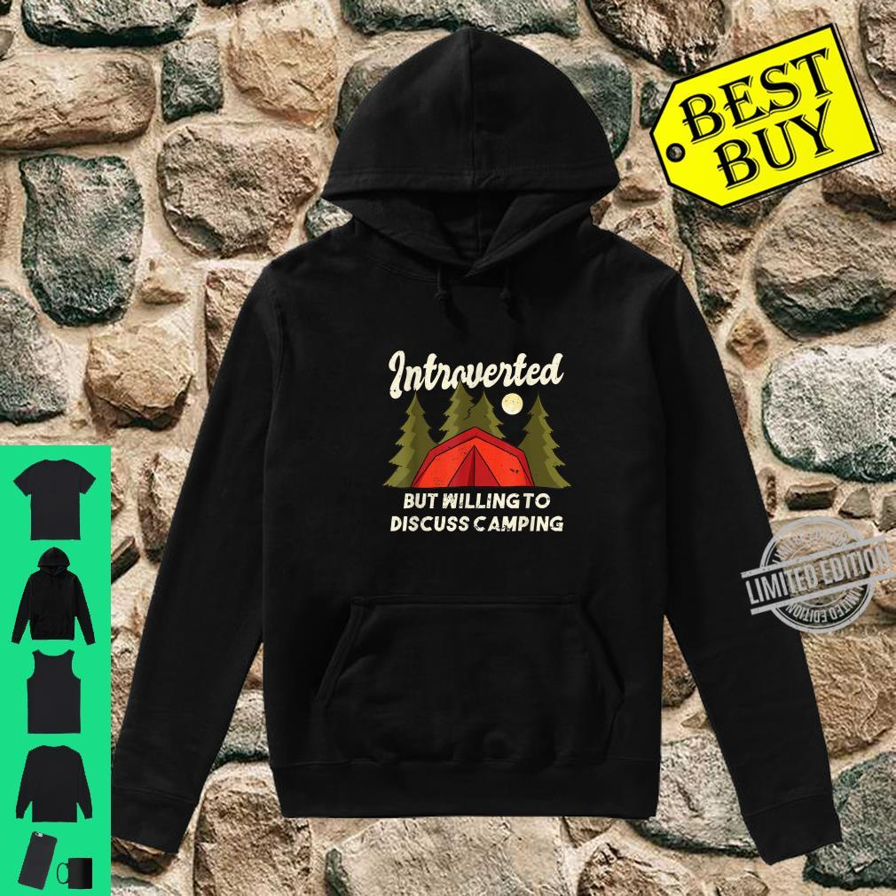 Introverted Camping Quote Introvert Shirt hoodie