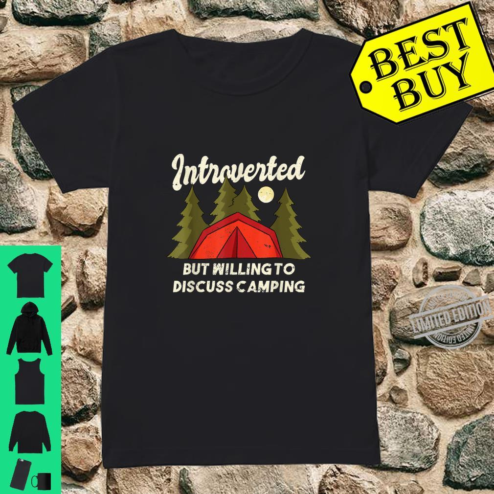 Introverted Camping Quote Introvert Shirt ladies tee
