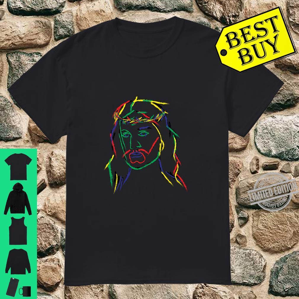 Jesus Image Cool Fun Piece Shirt