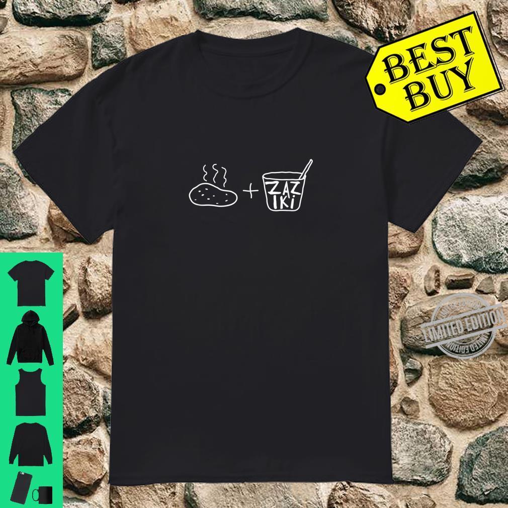 Kartoffel + Zaziki, lustig, für deutsch griechische Paare Shirt